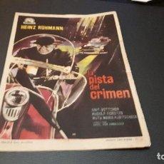Cine: PROGRAMA DE MANO ORIG - LA PISTA DEL CRIMEN - CINE DE BURRIANA . Lote 130872332