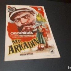 Cine: PROGRAMA DE MANO ORIG - MISTER ARKADIN - CINE DE ALCOY . Lote 130872548