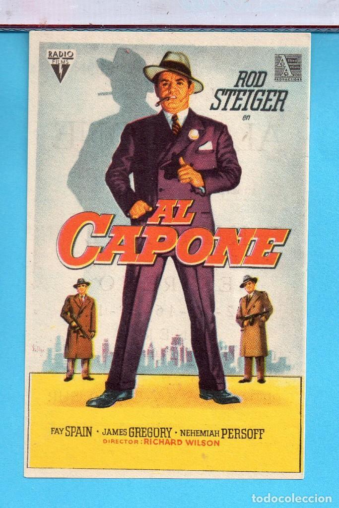 FOLLETO DE MANO CINE AL CAPONE ROD STEIGER PUBLICIDAD KURSAAL EN REUS (Cine - Folletos de Mano - Comedia)