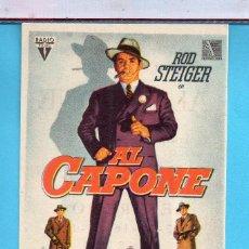 Cine: FOLLETO DE MANO CINE AL CAPONE ROD STEIGER PUBLICIDAD KURSAAL EN REUS. Lote 195290550