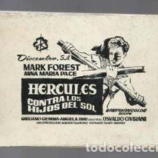 Cine: HERCULES CONTRA LOS HIJOS DEL SOL, LIBRETA DE POSTALES SOBRE LA PELÍCULA, BUEN ESTADO. Lote 131062348