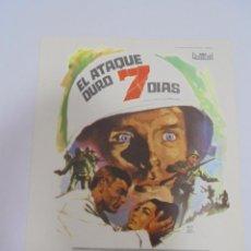 Flyers Publicitaires de films Anciens: PROGRAMA DE CINE. S/P. EL ATAQUE DURO 7 DIAS. Lote 131139492