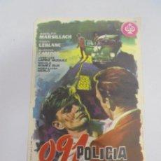 Flyers Publicitaires de films Anciens: PROGRAMA DE CINE. C/P. 091 POLICIA AL HABLA. CINE MODERNO. Lote 194633393