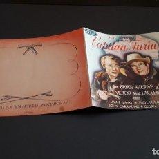 Cine: PROGRAMA DE MANO ORIG DOBLE - CAPITAN FURIA - SIN CINE . Lote 131184368