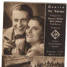 Cine: GUERRA DE VALSES ( TIVOLI ). Lote 131222020