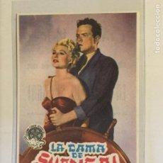 Foglietti di film di film antichi di cinema: PROGRAMA DE CINE LA DAMA DE SHANGAI. CINEMA VALIRA (LES ESCALDES).. Lote 131530790