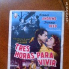 Cine: FOLLETO TRES HORAS PARA VIVIR . Lote 131619826