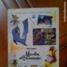 Cine: FOLLETO DE MANO MERLIN EL ENCANTADOR. Lote 131691486