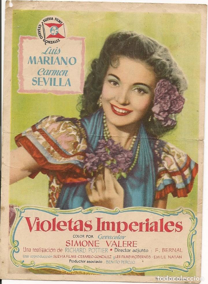 VIOLETAS IMPERIALES (Cine - Folletos de Mano - Clásico Español)