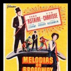Kino - FOLLETO DE MANO, MELODIAS DE BROADWAY 1955, FRED ASTAIRE Y CYD CHARISSE 1956 - 131818514