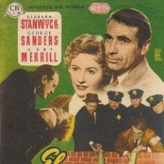 Cine: EL ÚNICO TESTIGO (1954). Lote 131887778