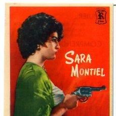Cine: YO NO CREO EN LOS HOMBRES 1961 (FOLLETO DE MANO ORIGINAL CON PUBLICIDAD) SARA MONTIEL. Lote 277624208