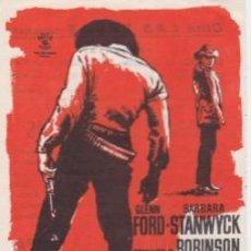 Cine: HOMBRES VIOLENTOS (CON PUBLICIDAD). Lote 131951614