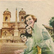 Cine: TRES ENAMORADAS O LAS MUCHACHAS DE LA PLAZA DE ESPAÑA (1952). Lote 131970082