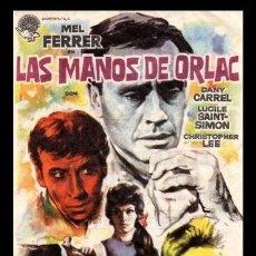 Cine: FOLLETO DE MANO. LAS MANOS DE ORLAC, MEL FERRER, DANY CARREL Y DEMAS. 1962. Lote 132011510