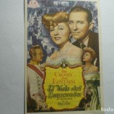 Cine: PROGRAMA EL VALS DEL EMPERADOR-BING CROSBY -PUBLICIDAD CINE LOS SANTOS -SAX. Lote 132045206