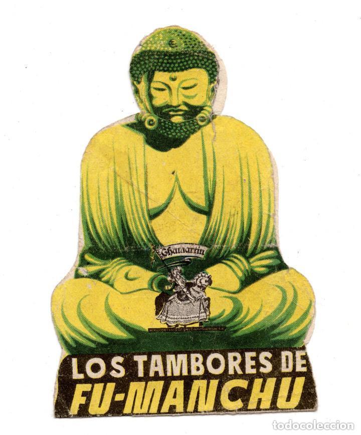 PROGRAMA DE CINE TROQUELADO. LOS TAMBORES DE FUMANCHU (Cine - Folletos de Mano - Suspense)