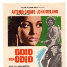 Cine: ODIO POR ODIO, FERNANDO SANCHO, ANTONIO SABATO. Lote 132177698