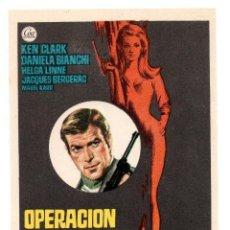 Cine: OPERACION LADY CHAPLIN - KEN CLARK DANIELA BIANCHI HELGA LINÉ - FOLLETO DE MANO ORIGINAL. Lote 132177730