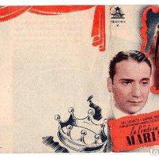Cine: PROGRAMA DE CINE DOBLE - LA CONDESA MARÍA / LINA YEGROS - SIN PUBLICIDAD - CIFESA.- AÑO 1943 . Lote 132177874