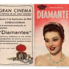 Cine: PROGRAMA DE CINE DOBLE. DIAMANTES.. Lote 132178182