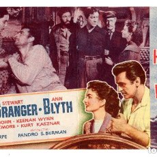 Cine: TODOS LOS HERMANOS ERAN VALIENTES, DOBLE MGM, ROBERT TAYLOR - S. GRANGER,CON PUBLICIDAD. Lote 132178222