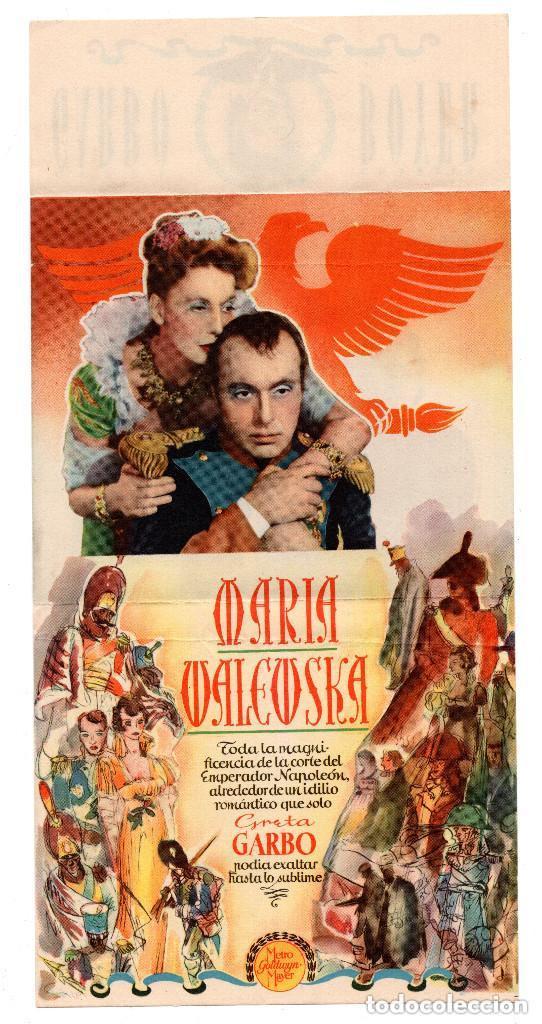 PROGRAMA DE CINE DOBLE - MARIA WALEWSKA / GRETA GARBO, CHARLES BOYER - METRO GOLDWYN MAYER (Kino - Filmprogrammhefte - Thriller)