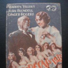 Cinema - VAMPIRESAS DE 1933, JOAN BLONDELL, GINGER ROGERS, GRAN TEATRO 1933 - 132194502