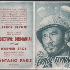 Cine: OBJETIVO BIRMANIA / PROGRAMA DOBLE WB CON PUBLICIDAD RF-1522 , BUEN ESTADO. Lote 132264546
