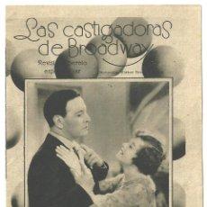 Cine: PTCC 006 LAS CASTIGADORAS DE BROADWAY PROGRAMA DOBLE CINAES VERDAGER NANCY WELFORD. Lote 132411002