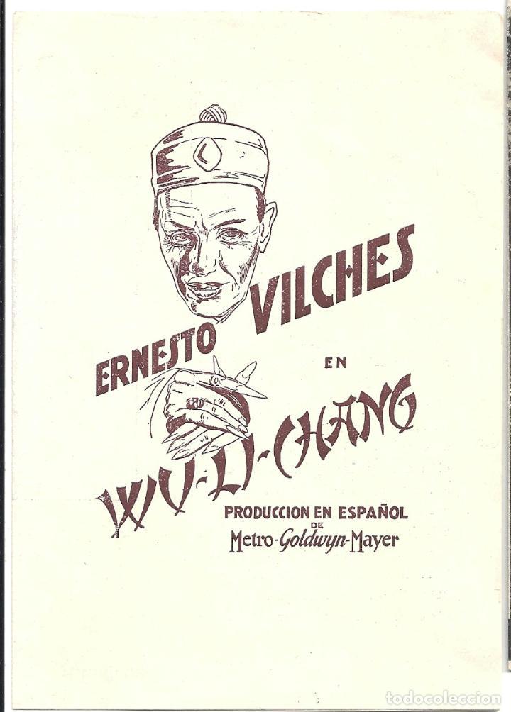 PTCC 007 WU LI CHANG / MR. WU PROGRAMA DOBLE MGM ERNESTO VILCHES JOSE CRESPO RARO (Cine - Folletos de Mano - Terror)