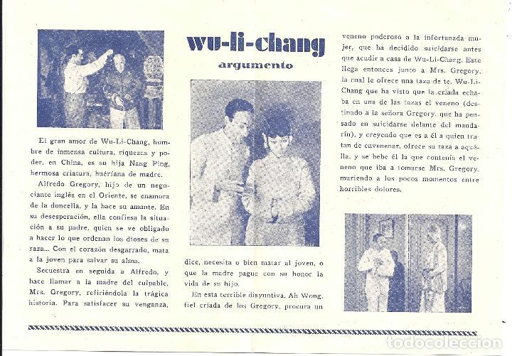 Cine: PTCC 007 WU LI CHANG / MR. WU PROGRAMA DOBLE MGM ERNESTO VILCHES JOSE CRESPO raro - Foto 2 - 132416350