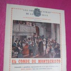 Cine: EL CONDE DE MONTECRISTO JEAN ANGELO PROGRAMA DE CINE AÑO1929. Lote 132431522