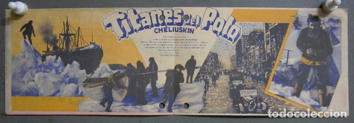 Cine: PTCC 009 TITANES DEL POLO CHELIUSKIN PROGRAMA DOBLE UNION FILM DOCUMENTAL RUSO - Foto 2 - 132457918
