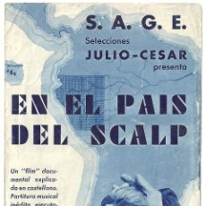 Cine: PTCC 009 EN EL PAIS DEL SCALP PROGRAMA DOBLE SAGE DOCUMENTAL NUDISMO MARQUES DE WRAVIN. Lote 132459206