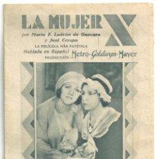 Cine: PTCC 009 LA MUJER X PROGRAMA DOBLE CONCURSO ARTISTAS MGM MARIA LADRON DE GUEVARA JOSE CRESPO. Lote 132489666