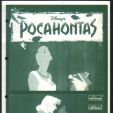 Cine: P-7607- POCAHONTAS (LOCAL) (DOBLE) (MULTICINES CACERES). Lote 132491294