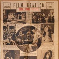 Cine: PROGRAMA EL JOROBADO DE NOTRE DAME - LON CHANEY - CINE MUDO. Lote 132537582