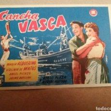Cine: CANCHA VASCA , CINE PALAFOX, ZARAGOZA. Lote 132545910