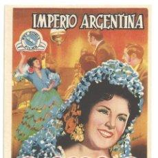 Cine: PTCC 012 LOS MAJOS DE CADIZ PROGRAMA SENCILLO REY SORIA IMPERIO ARGENTINA RARO. Lote 132548334