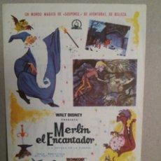 Cine: MERLIN EL ENCANTADOR - CINE AVENIDA - REUS ?. Lote 132548869