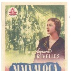 Cine: PTCC 012 MALVALOCA PROGRAMA SENCILLO CIFESA CINE ESPAÑOL AMPARO RIVELLES ALFREDO MAYO RARO. Lote 132565770