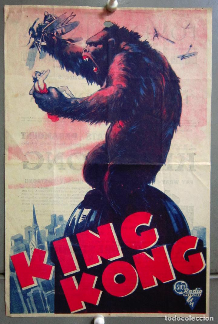 PTEB 001 KING KONG PROGRAMA PASQUIN RKO FAY WRAY ROBERT ARMSTRONG (Cine - Folletos de Mano - Terror)