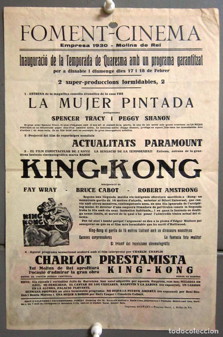 Cine: PTEB 001 KING KONG PROGRAMA PASQUIN RKO FAY WRAY ROBERT ARMSTRONG - Foto 2 - 132569526