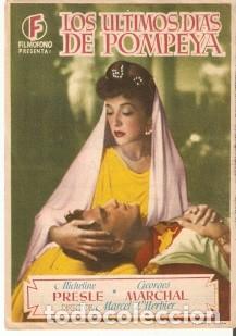 PROGRAMA CINE. LOS ÚLTIMOS DÍAS DE POMPEYA, REVERSO REQUENA. REF. 19-933 (Cine - Folletos de Mano - Aventura)