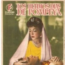Cine: PROGRAMA CINE. LOS ÚLTIMOS DÍAS DE POMPEYA, REVERSO REQUENA. REF. 19-933. Lote 132575706