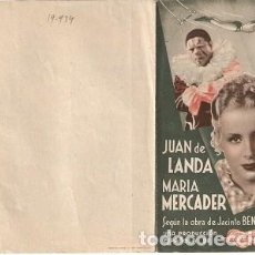 Flyers Publicitaires de films Anciens: PROGRAMA CINE. LA FUERZA BRUTA. DIPTICO. REF. 19-934. Lote 132575874