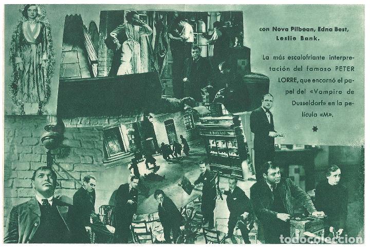 Cine: PTEB 006 EL HOMBRE QUE SABIA DEMASIADO PROGRAMA DOBLE ATLANTIC ALFRED HITCHCOCK PETER LORRE MARRON - Foto 2 - 132577082