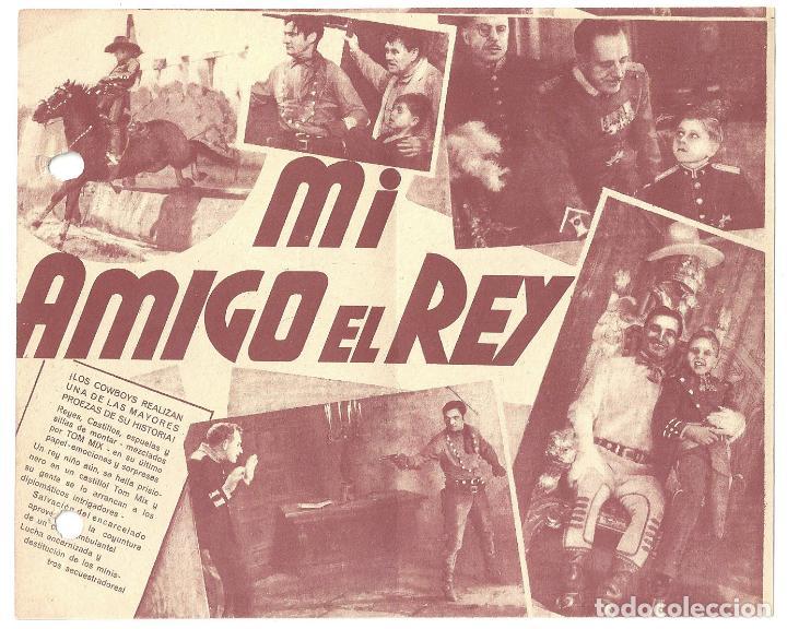 Cine: PTEB 007 MI AMIGO EL REY PROGRAMA DOBLE UNIVERSAL TOM MIX MICKEY ROONEY - Foto 2 - 132583426