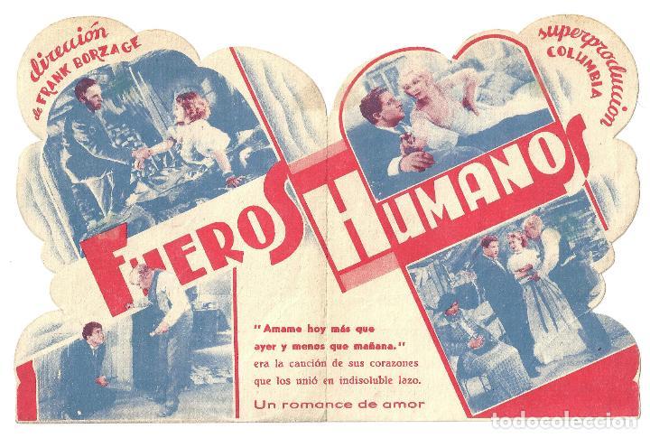 Cine: PTEB 008 FUEROS HUMANOS PROGRAMA DOBLE TROQUELADO CIFESA SPENCER TRACY LORETTA YOUNG - Foto 2 - 132585802